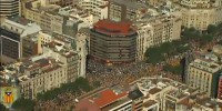 Demonstration for the Independence of Catalonia. Aerial View. 10/07/2010