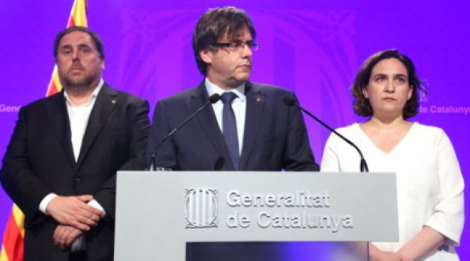 'Democracy will overthrow terrorism and brutality,' says Catalan President